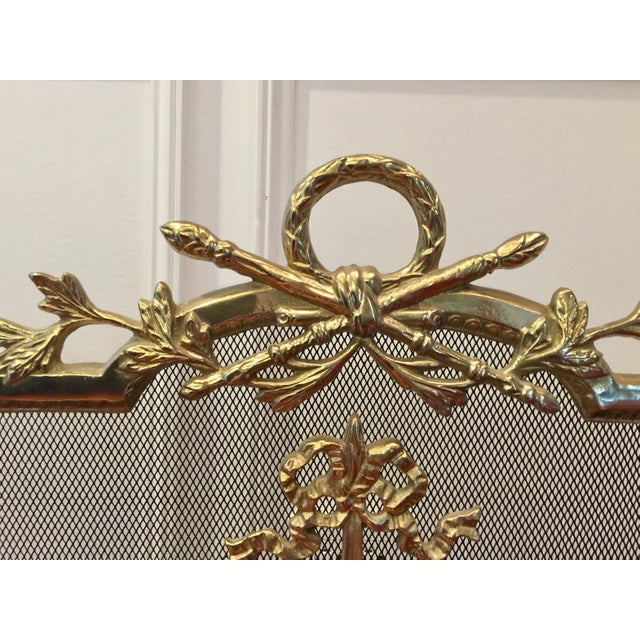 Louis XVI Style Brass Fireplace Screen - Image 5 of 10