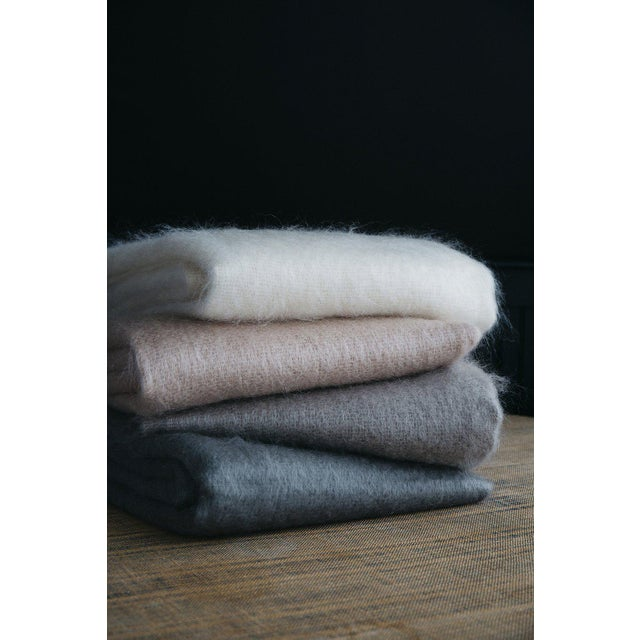 2020s Mohair Throw in Pearl For Sale - Image 5 of 13