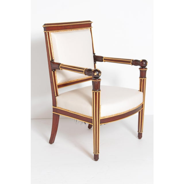 French Empire Fauteuil by Ébéniste Jacob-Desmalter, Circa 1820 For Sale - Image 9 of 9