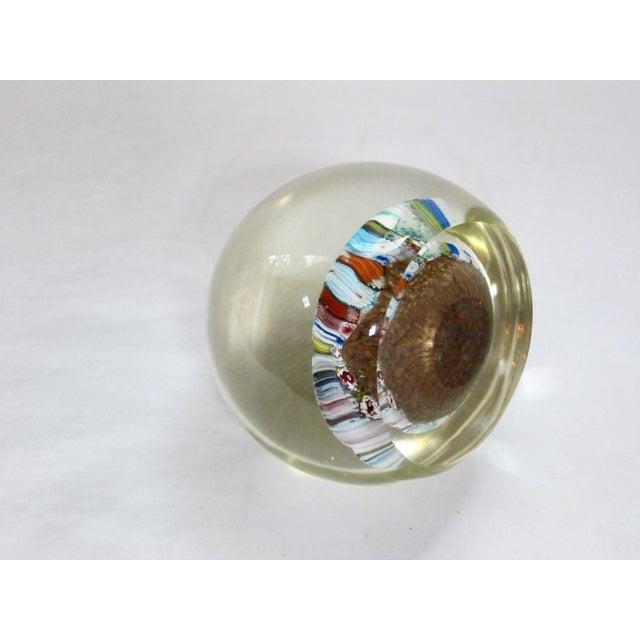 Toso Murano Italian Murano Glass Millefiori Paperweight For Sale - Image 4 of 5