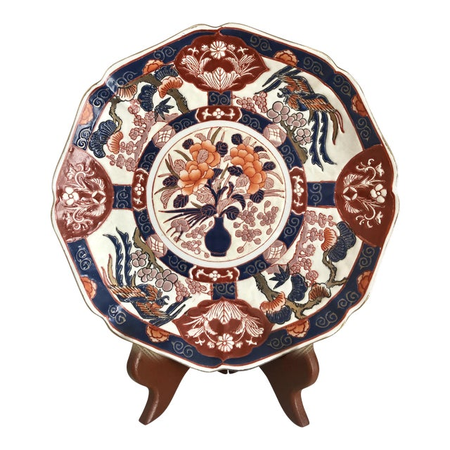 Andrea by Sadek Chinoiserie Purple Plate For Sale
