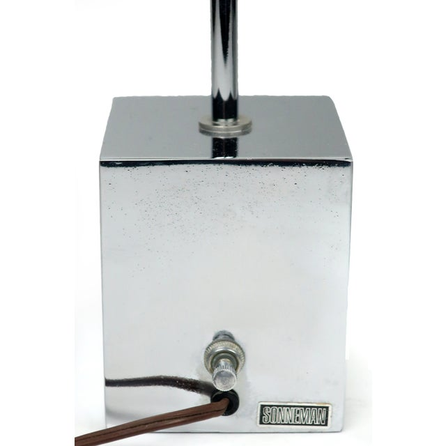 Metal Pair of Sonneman Lollipop Table Lamps For Sale - Image 7 of 9