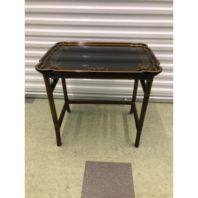 Acrylic Baker Furniture Chinoiserie Faux Bamboo Nesting Tables - Set of 2 For Sale - Image 7 of 10