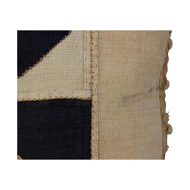 African Kuba Patchwork Pillow For Sale - Image 4 of 4