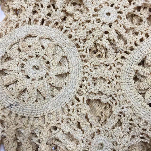 Vintage Handmade Crocheted Runners - A Pair - Image 5 of 6