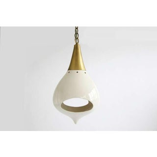 1960s Mod Brass and Ceramic Hanging Lamp Preview