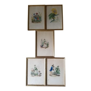 19th Century French Flower People Prints For Sale