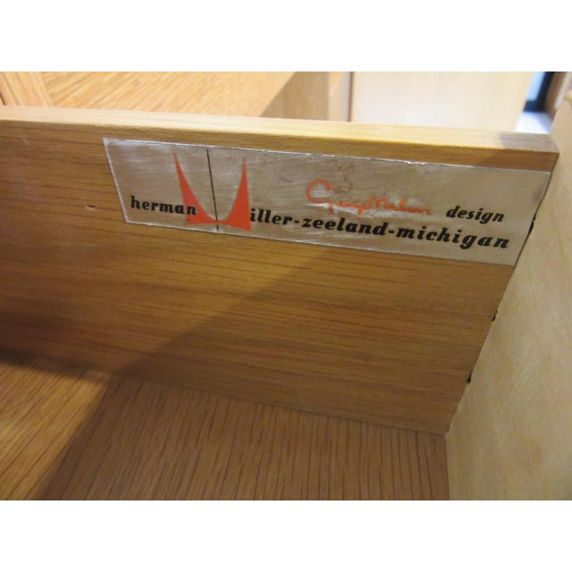 Silver George Nelson for Herman Miller Oak 3 Pc. Vanity Chest Set For Sale - Image 8 of 13