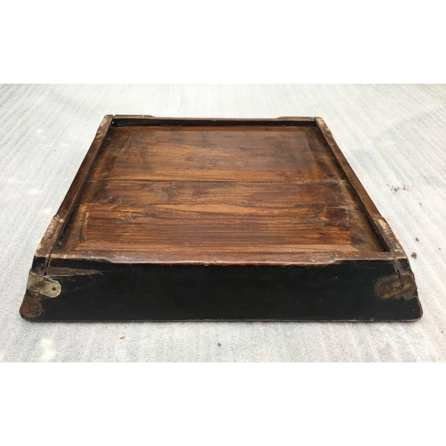 Antique Zebra Painted Wooden Tray For Sale - Image 10 of 11