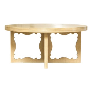 Dorothy Draper Penelope Oak Cocktail Table For Sale