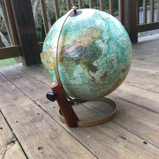 Mid-Century Modern Vintage Replogle Globe on Stand For Sale - Image 3 of 5