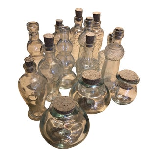 Mini Bottles With Corks - Collection of 14 For Sale