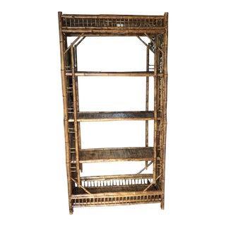 1970's English Tortoiseshell Shelf Etagere For Sale