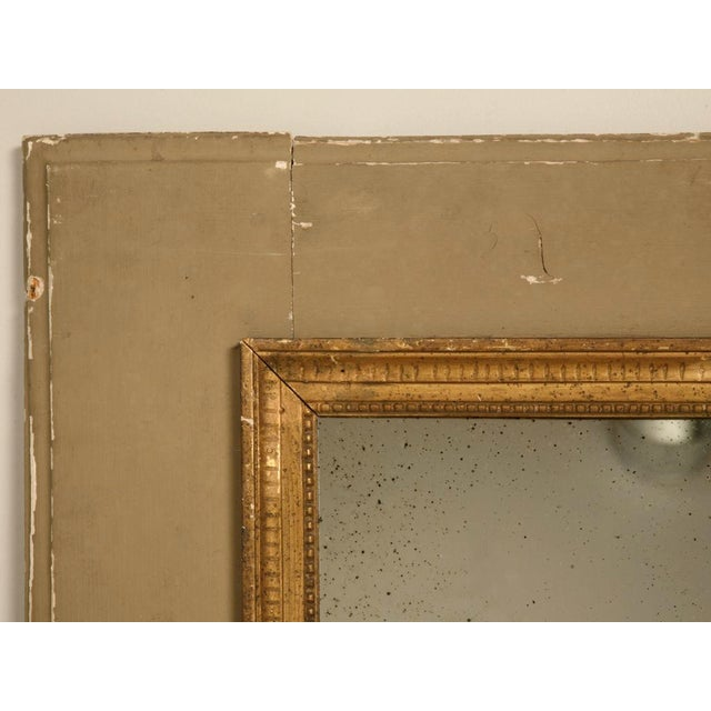 Circa 1880 French Painted Trumeau Mirror For Sale - Image 9 of 12