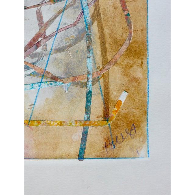"""Nest"" Original Mono Print Painting by Martha Holden - Image 4 of 5"
