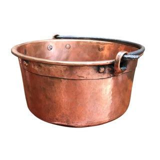 Early 19th Century French Hammered Copper Kettle For Sale