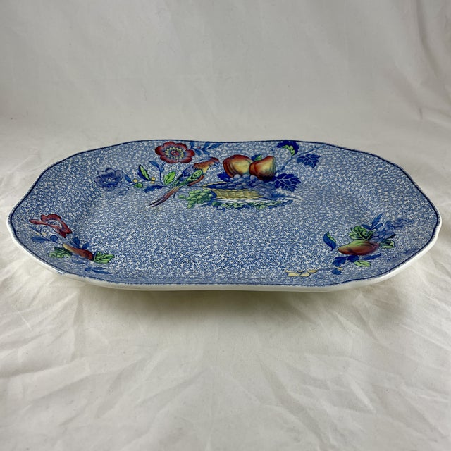 English 1920s Copeland Spode George III Pattern Platter for Harrods of London For Sale - Image 3 of 13