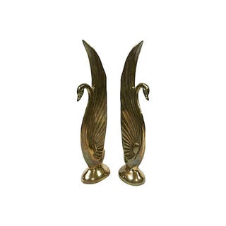 Brass Swan Bookends Preview