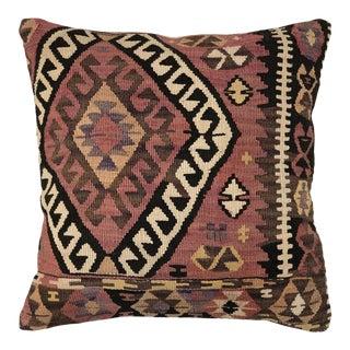 """Mauve Mid-Century Kilim Pillow   20"""" For Sale"""