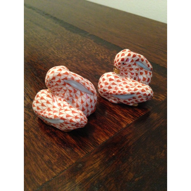 These porcelain pair of rabbits are normally sold separately( new a piece $190.00) but we are selling them as a set,...