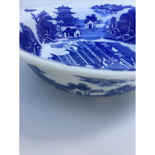 Victoria Ware Ironstone Blue Willow Serving Bowl For Sale In Tampa - Image 6 of 7