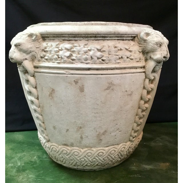 Imagine this pair of impressive concrete pots complementing your home. Their textured surface overflowing with your floral...