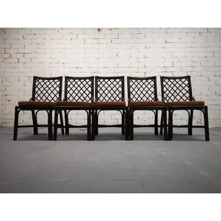 Set of 5 Italian Vintage Bamboo Dining Chairs Preview