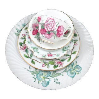 Vintage Mismatched Fine China - 5 Piece Place Setting