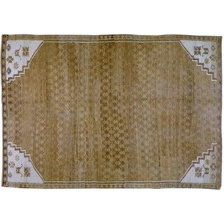 "Vintage Turkish Oushak Rug,6'8""x9'8"""