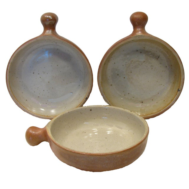 Vintage French Stoneware Ramekins - Set of 3 - Image 1 of 5