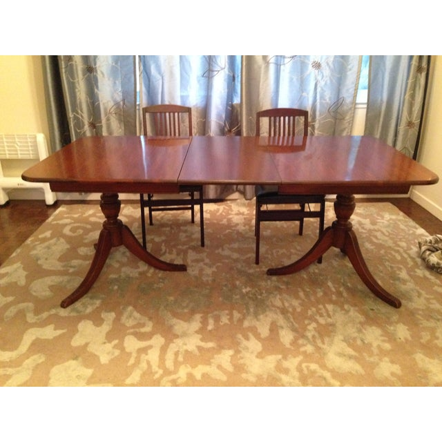 1940s expandable mahogany dining table chairish 1940s expandable mahogany dining table image 3 workwithnaturefo