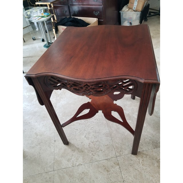 Baker Historic Collection Chippendale Tea Table - Image 3 of 7