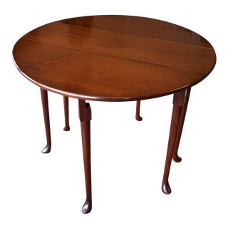 Vintage Solid Cherry Drop Sides Occasional Table For Sale