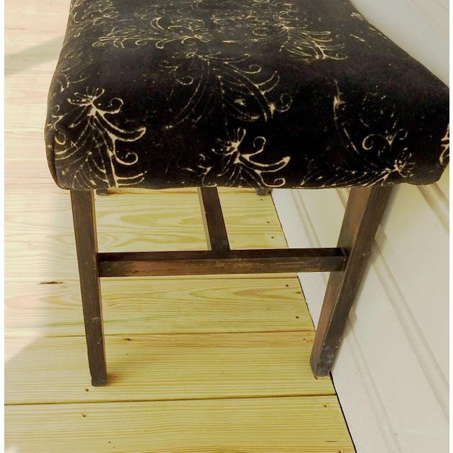 Mid-Century Modern Custom Velvet Upholstery Bench For Sale - Image 5 of 7