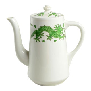 1960s Hammersley Green Dragon Coffee Pot & Lid For Sale
