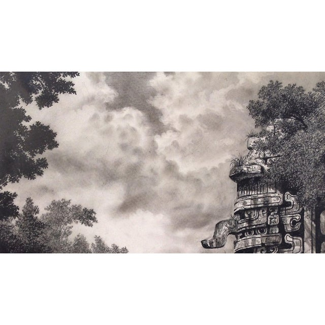 "Figurative Illustration of Mayan Ruins, ""Habitat Maya No.6"" For Sale - Image 3 of 5"