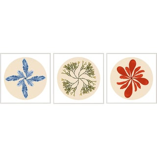 Modern Beach, Set Of 3, Framed Artwork For Sale