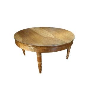 Antique Italian Rustic Tuscan Farmhouse Walnut Round Table Circa 1860 For Sale
