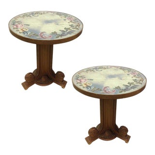 Grosfeld House Matching Tables with Églomisé Top