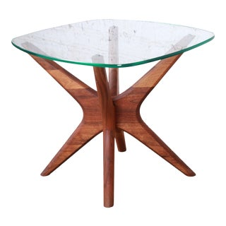 "Adrian Pearsall for Craft Associates Sculpted Walnut ""Jacks"" Side Table For Sale"