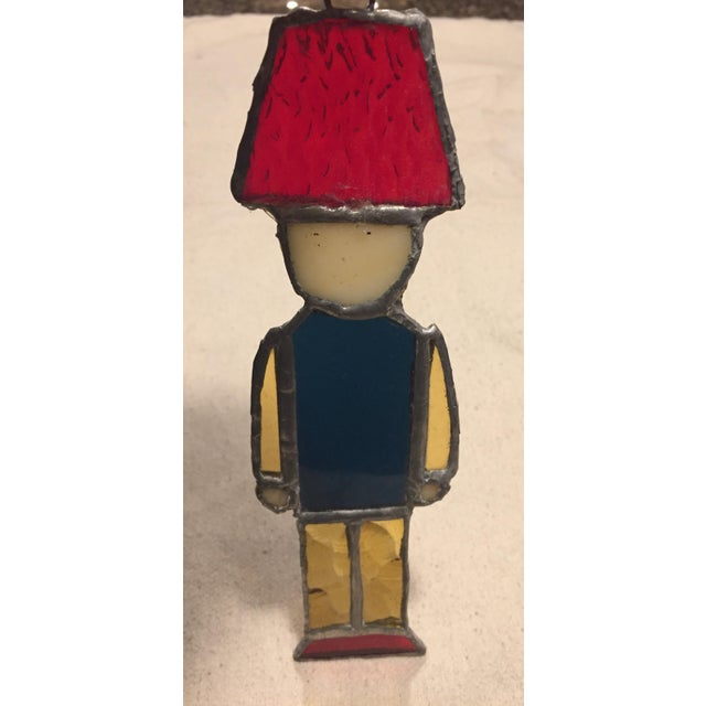 Stained Glass Nutcracker Toy Soldier For Sale In Boston - Image 6 of 6