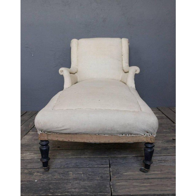 French 19th Century Chaise Longue With Scrolled Back - Image 4 of 8