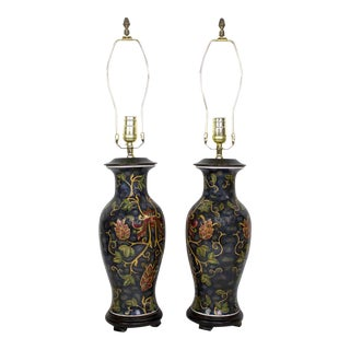 Chinoiserie Lamps - a Pair For Sale
