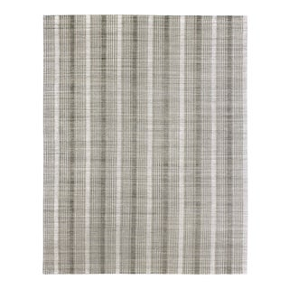 Hand-Knotted Modern Viscose & Wool Rug - 9′3″ × 11′10″ For Sale