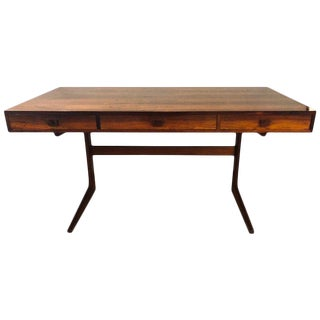 Georg Petersens Danish Modern Rosewood Cantilever Writing Desk For Sale