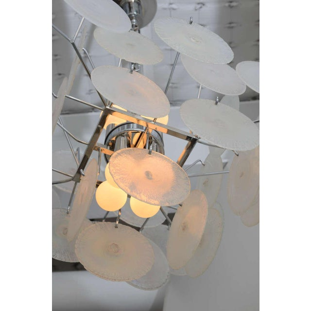 Vistosi Murano Vistosi Iridescent Disc Chandelier For Sale - Image 4 of 10