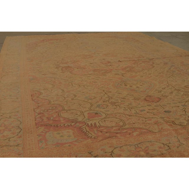Antique Hand Knotted Pink Floral Sivas Rug - 6' x 9' For Sale - Image 4 of 6