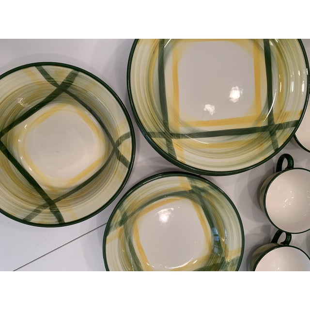 Vintage Mid-Century Vernonware Gingham Dinnerware - 40 Piece Set For Sale In Miami - Image 6 of 13