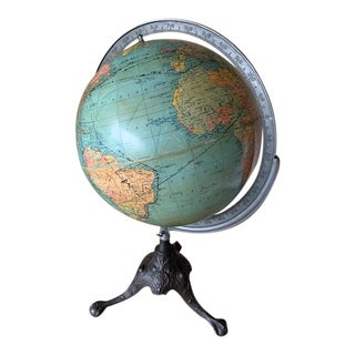 1940s Replogle Rotating Globe For Sale