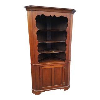 19th Century Adirondack Mid Atlantic Solid Walnut Corner Cupboard For Sale